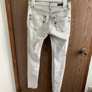 Rock & Republic acid wash white jeans